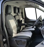 Tailored van seat covers for Ford Transit Custom 2019 Leatherette black/grey