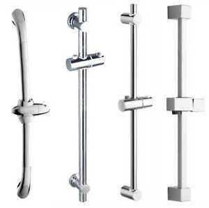 Chrome Adjustable Bathroom Shower Riser Rail Bracket Shower Head Holder Bar Kit