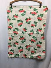 Vintage 30s 40s Fabric Feed Sack Cotton Cherries Print Novelty Fruit
