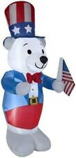 Fourth of July Gemmy 6 White Bear Spring Inflatable