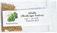 500 All Natural Sprouting Alfalfa Seeds Non GMO Freshly Packed For 2017