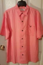 New! Men's Sz M MEDIUM Island Republic Short Sleeve PINK PARADISE Soft Shirt
