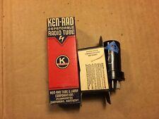 NOS NIB Vintage Ken-Rad 6SJ7 Vacuum Tube 1944 Tested Good