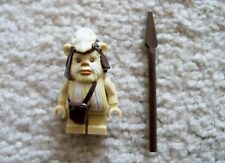 LEGO Star Wars - Rare - Ewok Minifig - Logray w/ Spear - From 10236 7956