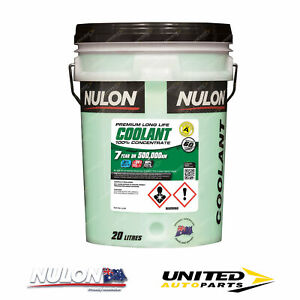 NULON Long Life Concentrated Coolant 20L for CHRYSLER Neon 2.0L Engine 1996-1999