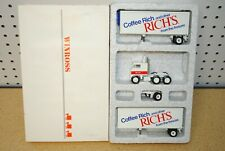 1/64 Winross Rich's Coffee Cab Over Double Pup Semi Tractor Trailer