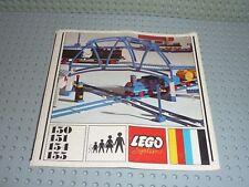 LEGO Vintage Notice de montage pour Set 150/151/154/155