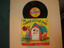 "Cricket Records THREE LITTLE PIGS 7"" 78 RPM Bonus Play"