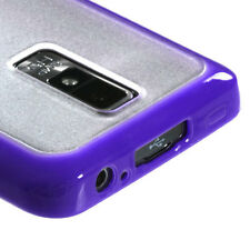 For LG Spectrum TPU Gel GUMMY Hard Skin Case Phone Cover Purple Clear