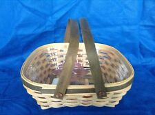"""Woven Memories Act Basket """"B"""" & Protector Longaberger New American Crafts Trad"""