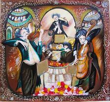 YAIR DOR Hand Signed Limited Edition Serigraph VIOLIN AND CELLO
