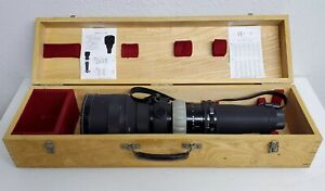 Rare - Nikon NIKKOR-Q Auto 400mm F4.5 MF Lens w/ CU-1 Focusing Unit & Wood Case