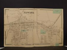 New York, Wayne County Map, 1874, Newark, Double Page, Y4#43