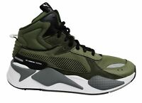 Puma RS-X Midtop Utility Olive Green Lace Up Casual Mens Trainers 369821 01