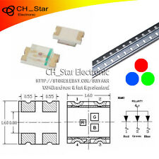 100PCS 0603(1608) SMD SMT RGB Red Green Blue Light 4Pin Common Anode LED Diodes