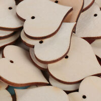 Crafts Supplies Graffiti Wooden Heart Buttons Wedding Decoration Scrapbooking