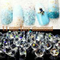 1440Pcs Crystal Rhinestone Nail Art Decoration Glitter Diamond Gems 3D Manicure