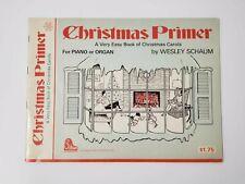 Christmas Primer for Piano or Organ Music Book Wesley Schaum - Christmas Carols