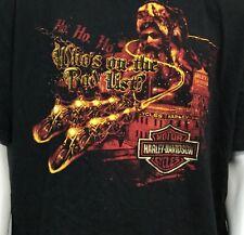 Harley Davidson T Shirt Sz 3XL Santa Claus Reindeer Shirt Christmas Atlanta