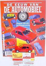 Solido Hachette 1:43 PEUGEOT 205 GTI Model Car + Collectors Magazine #51 MIB`00!