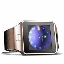 W-09 Quad band Bluetooth Watch Phone brown Unlock 1.54'Touch Screen cell Phone