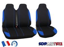 Peugeot Boxer Expert Housses Couvre Sieges Fabric 2+1 Bleu Noir