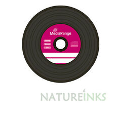 10 Mediarange Black Bottom Vinyl CD-R  Blank CD discs 52x 700MB 80 mins MR225