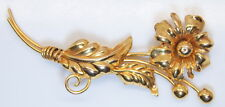 Beautiful Antique 10K Yellow Gold A-Regel Floral Pin Back Brooche