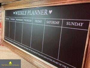 Wall Mounted Weekly Menu Planning Large Chalkboard Kitchen Blackboard Rustic