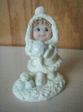 Dreamsicles Northern Lights Girl With Snowballs Cast Art Industries 1999 Rare
