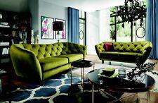 Chesterfield 3 Sitzer Designer Sofa Couch Polster Sofas Couchen Stoff Textil Neu
