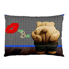 NEW Ted Bear Movie Kiss MY Butt FUNNY PILLOW CASE One Side Print FREE Shipping