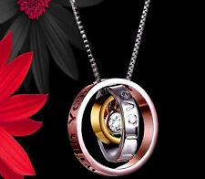 Mujeres Regalos Para Ella Diamante Anillo Collar mamá Trio Navidad Rosegold Plata Mamá