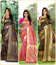 Lichi Silk Sari Traditional Festival Designer Wedding Party wear Indian Saree
