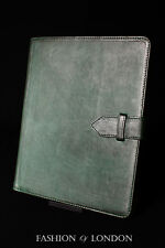 iPad 2 3 & 4 (Green Washed Lambskin) Real Genuine Leather Cover Case Stand Folio