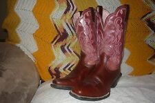 Womens 8 B Ariat Legend Burgundy Square Toe Western Cowboy Boots 15835 Med
