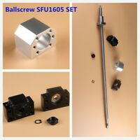 L250MM-2000MM CNC Ball Screw SFU1605 C7 & BK/BF12 End Support & Ballnut Housing
