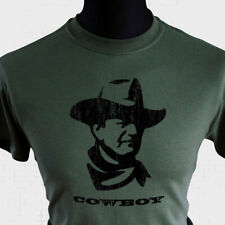 Cowboy T Shirt John Wayne Western Wild West Gunslinger Legend Icon Cool Cult Grn