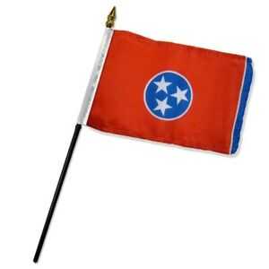 """Tennessee State Flag 4""""x6"""" Desk Table Stick (sewn edges)"""