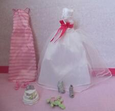 Barbie Fairytale Wedding Party I Can Be a Bride~BRIDESMAID DRESS GOWNS CLOTHING