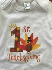 """Laughing Giraffe """"My 1st Thanksgiving"""" Gown - 0-3 Months"""