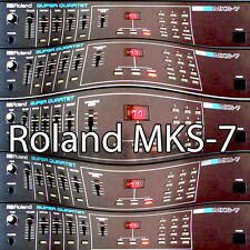 ROLAND MKS-7 Original Factory & New Created Sound Library & Editors on CD