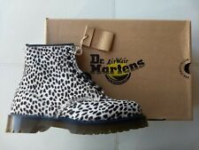 DOC DR MARTENS WHITE TOPOS PONY HAIR REAL FUR LEOPARD CHEETAH BOOTS NEW RARE 6UK