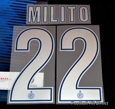 Inter Milan Milito 22 2013/14 football shirt Nom/Numéro SET SERIE A Home