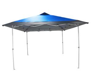 Everbilt 12 ft. x 12 ft. Blue Mega Shade Pop-Up Canopy Tent, Model NS PUG 144-15