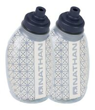 Nathan Fire and Ice Flask 2 Pack 8 oz Clear Sport Run Insulated Hydration Bottle
