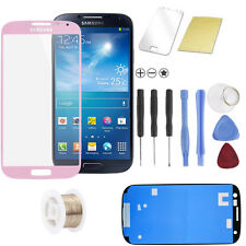 Samsung Galaxy S4 i9500 i9505 Display Touchscreen Front Glas Scheibe Pink