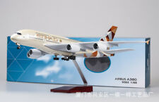 1/130 A380 Etihad Airplane Airforce w/ LED Aircraft Plane Passanger  Model Colle