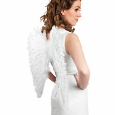 WHITE FEATHER ANGEL WINGS FANCY DRESS HEN NIGHT PARTY 57X62CM