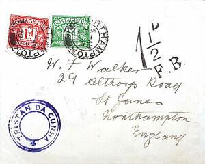 1940 Tristan da Cunha cover & letter to England